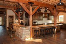 Rustic Post and Beam Barn Homes