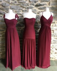 Care for some Wine? These long burgundy mesh and chiffon ...