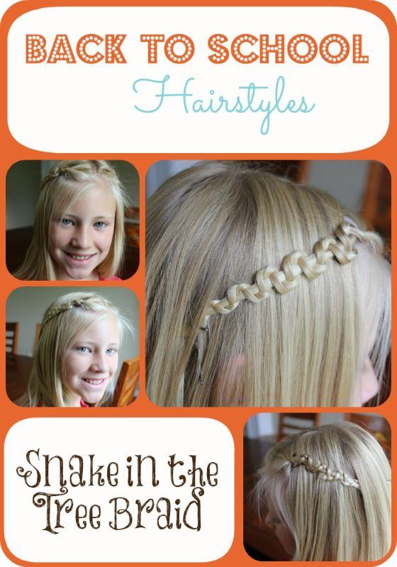 Back To School Hairstyles Curls That Last Snake Braid Love
