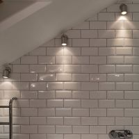 Wall Spot Light wall mounted light in a sloping bathroom ...