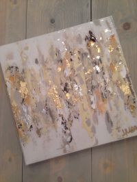 """Abstract art on canvas by Jenn Meador $100. 12""""x12"""" email ..."""