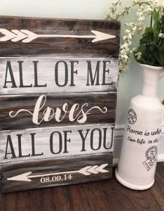 Makes  great wedding engagement or anniversary  our high quality signs are hand crafted also what gorgeous sign to showcase your love john legend style rh pinterest