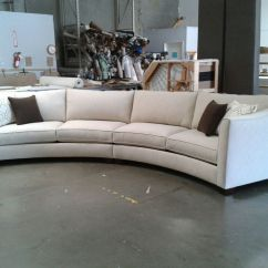 Modern Twine Curved Arm Sofa Francis Flexform Sectional Set Rich Comfortable Upholstered