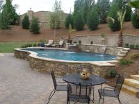 Raised pool with waterfalls | Pool ideas | Pinterest ...