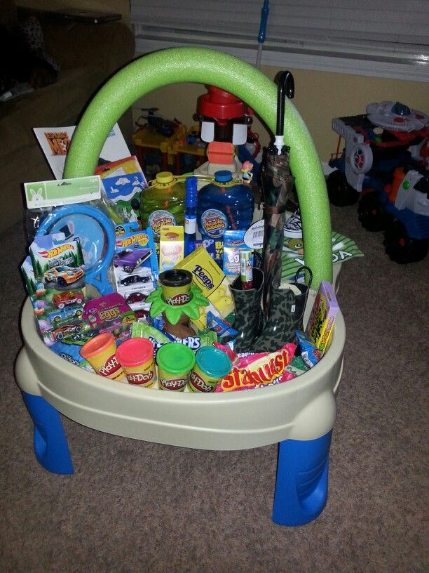 Sand And Water Table Easter Basket For Toddler Holidays
