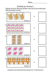 Beginning Division Worksheets With Pictures