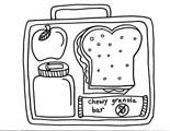 healthy lunchbox colouring page from www