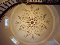 Anything But Plain -Hand-Painted Dome with Diamond Plaster ...