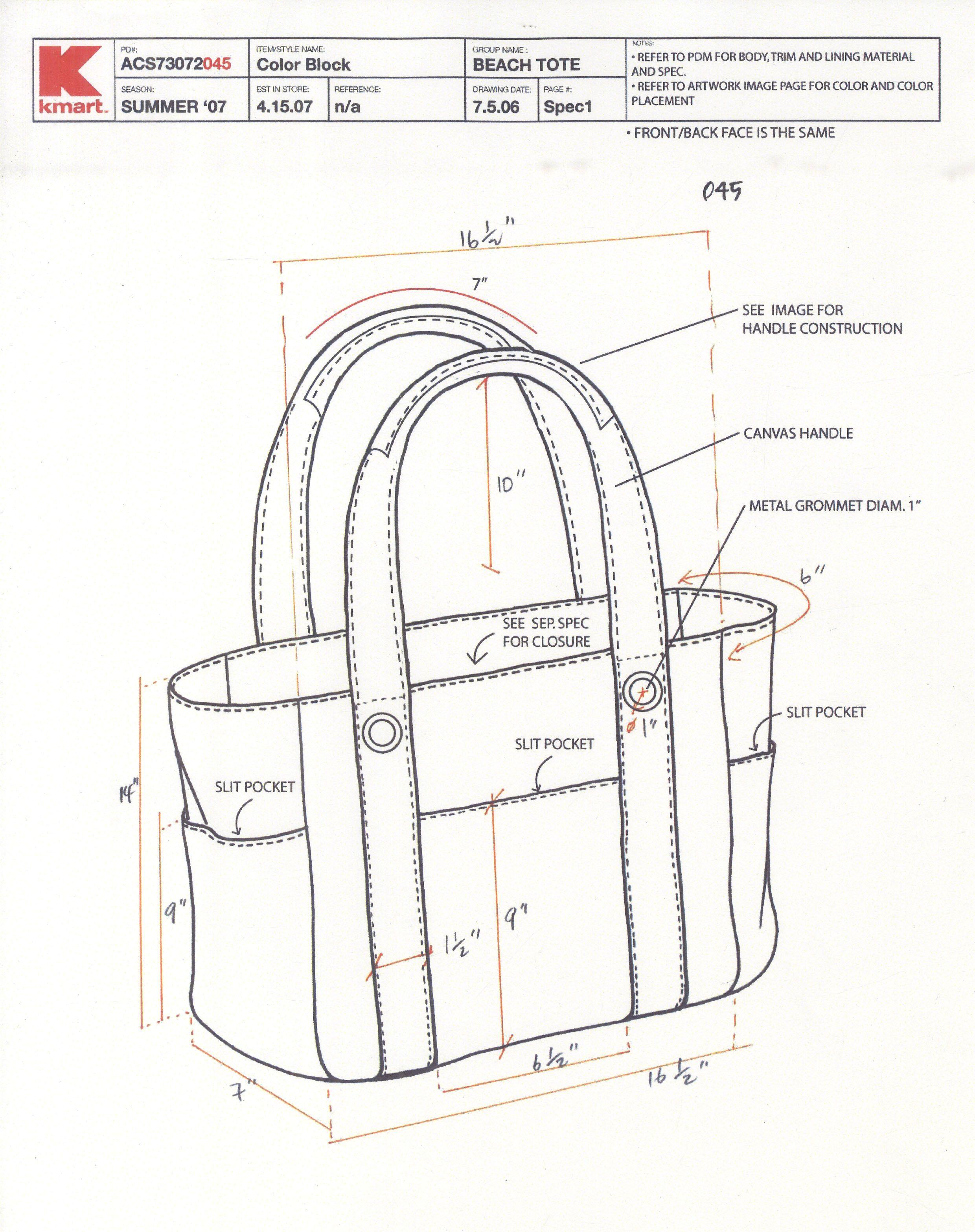 Tote Bag Layout