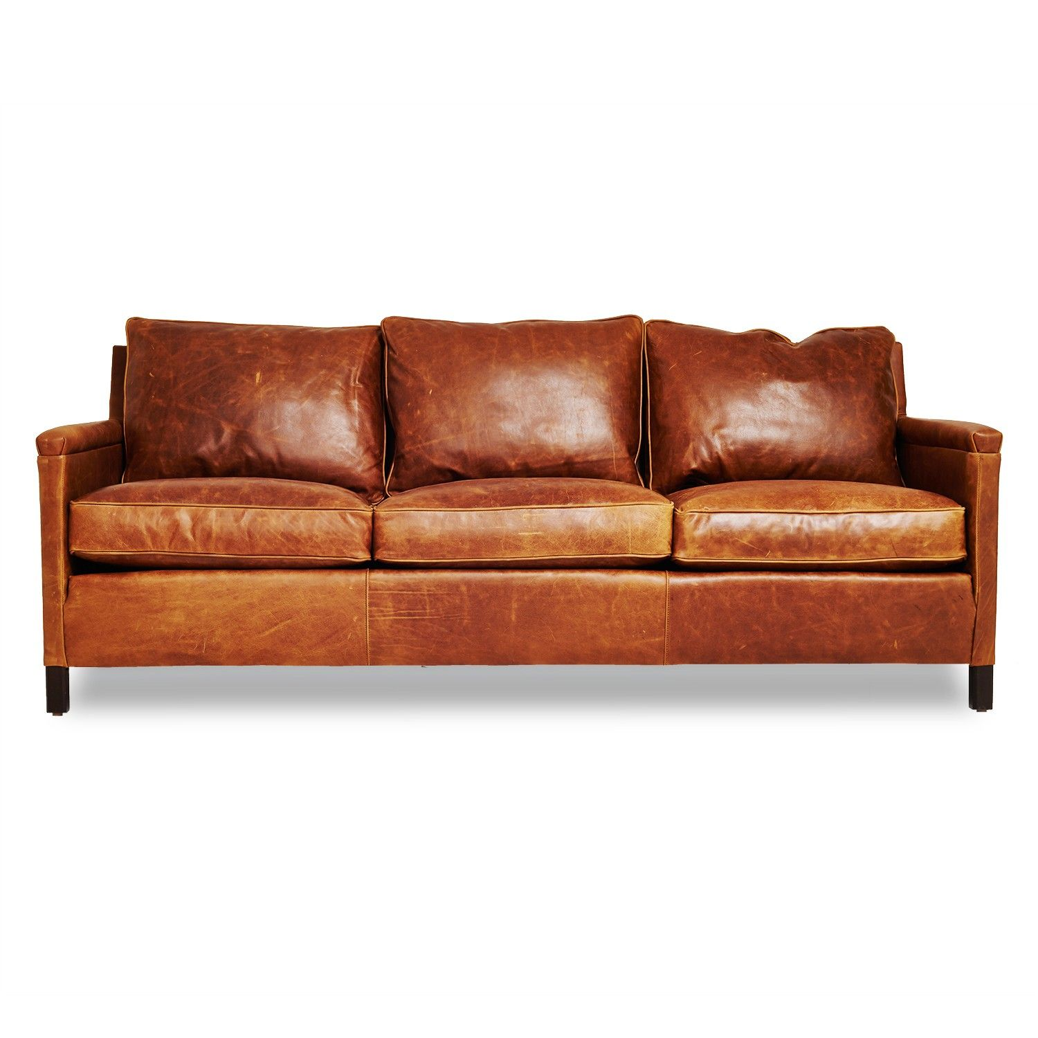 The Heston gives an urban edge to the classic leather sofa