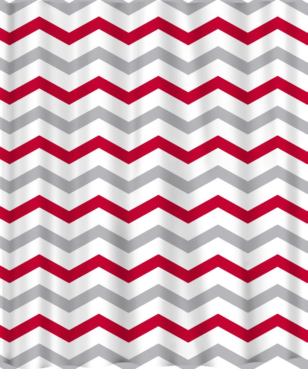 Aqua Chevron Shower Curtain - Custom colors shower curtain chevron or stripes red grey and red chevron shower curtain