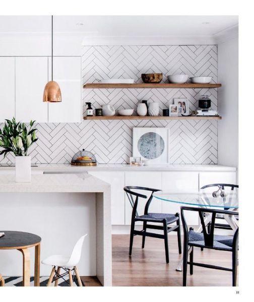 scandinavian kitchen tile designs herringbone kitchen splash back | * Scandinavian Kitchen