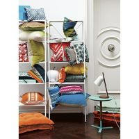 discus aqua side table in accent tables | CB2 | Furniture ...