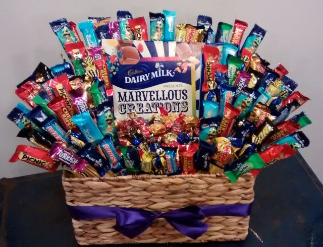 Diy cadbury chocolate gift basket arts and crafts