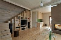 Contemporary Tv Cabinet Design Of The Space Under Stairs ...