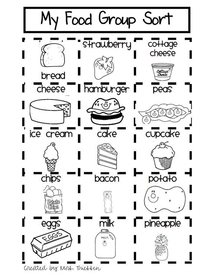 Food Healthy Worksheets