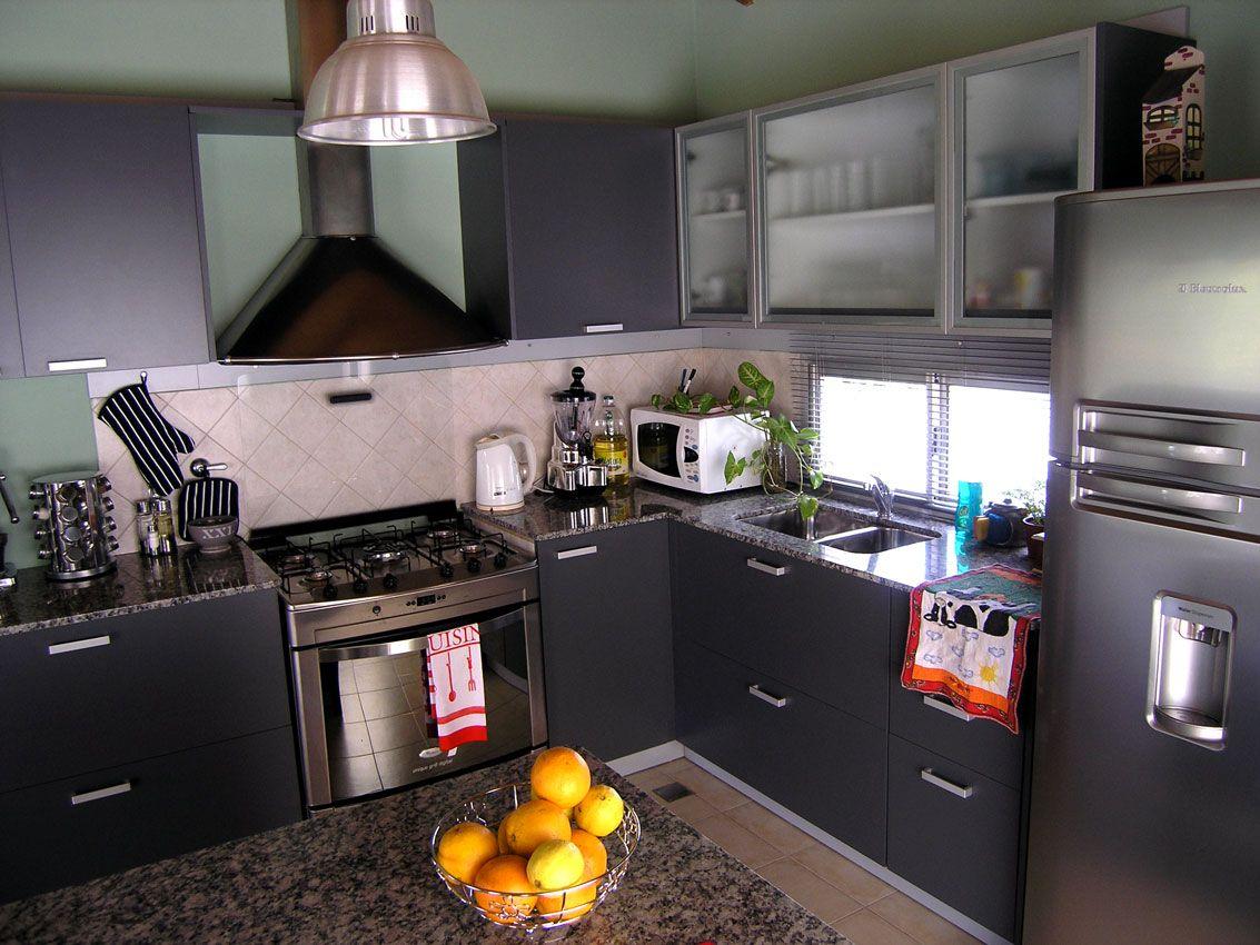Conjunto Completo De Mobiliario De Cocina En Color Gris