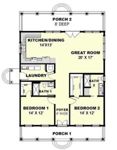 Cottage style house plan beds baths sq ft also rh pinterest