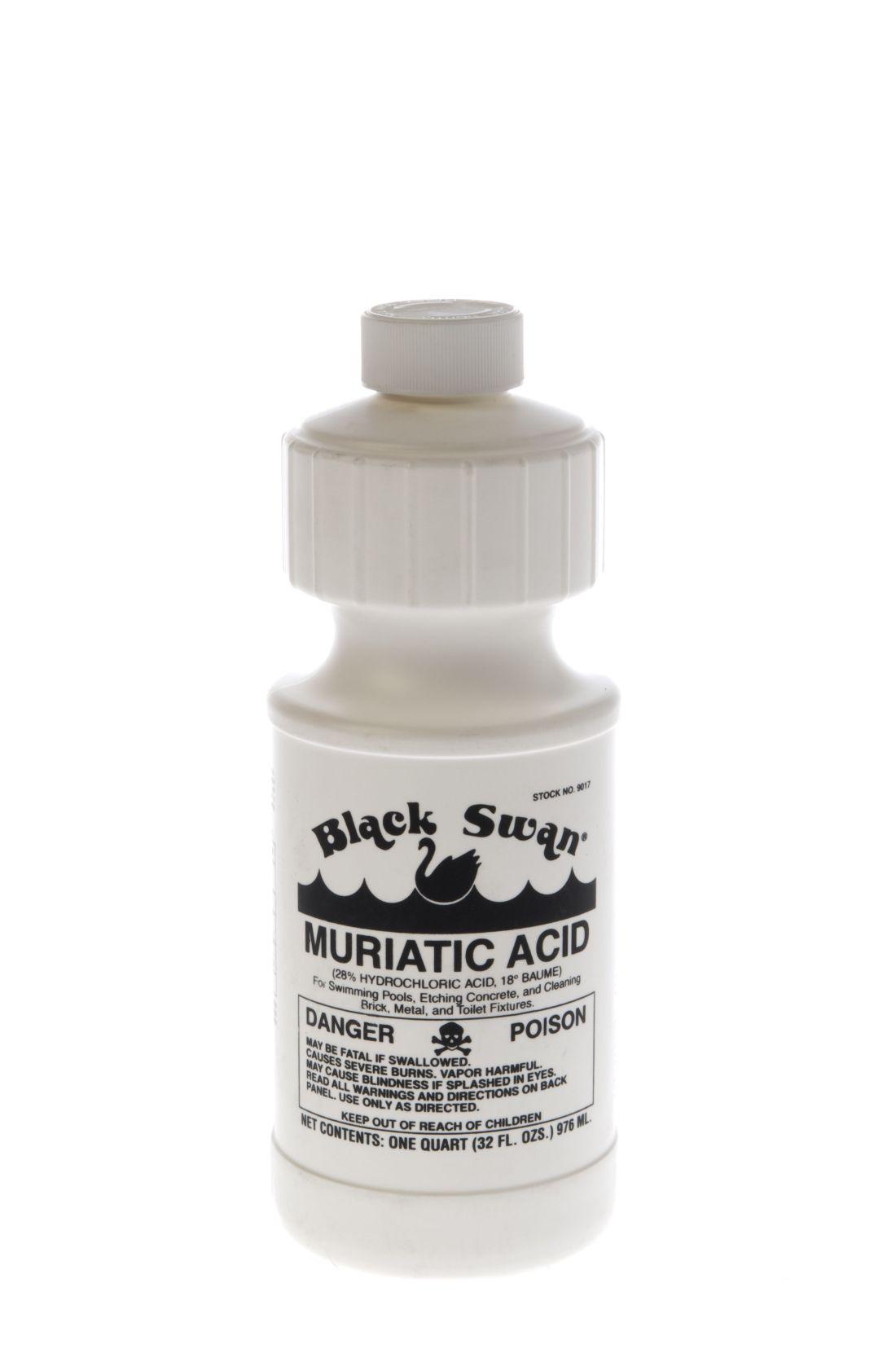 Black swans 18 muriatic acid is 28 hydrochloric acid
