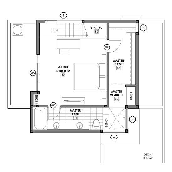 Floor Plan Option 4 The Voyeur Shower Second Story Modative