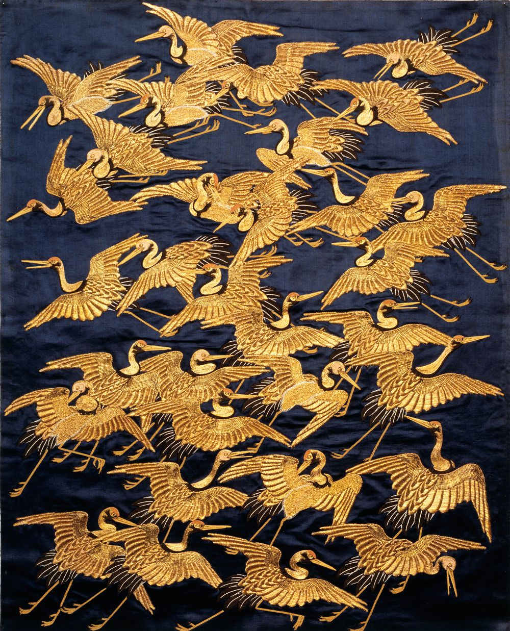 Japanese Silk Embroidery Art