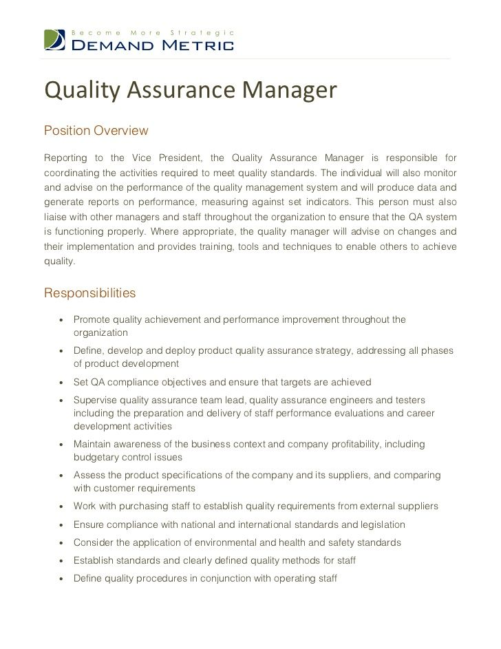 sample cover letter for quality assurance job