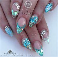 Mermaid Acrylic Nails... | Luminous Nails | Pinterest ...