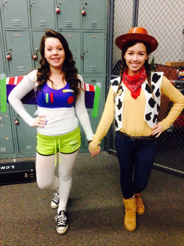Diy Buzz Lightyear And Woody Costumes Dynamic Duo Day