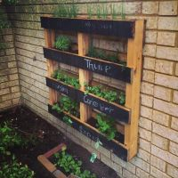 DIY Pallet Vertical Herb Garden: Hanging Planter ...