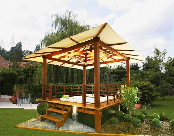 Minimalist And Modern Gazebo In The House Oriental Gazebo In