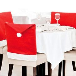 Christmas Chair Covers Pinterest Positions In Dentistry Moyishi New Pack Of 4pcs Santa Claus Hat Color Red Find Out