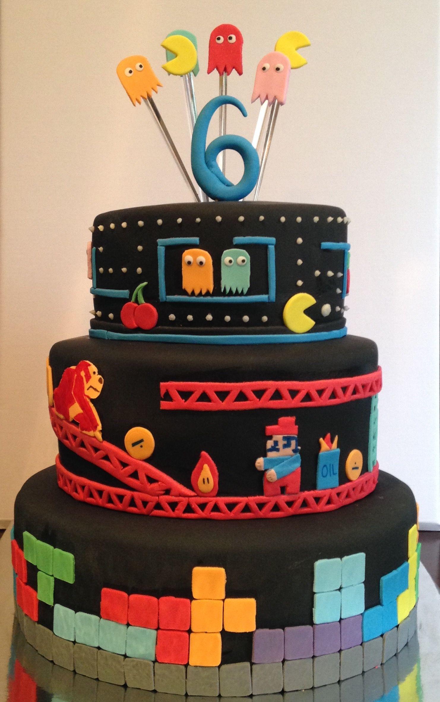 Gaming Cake Nintendo Mario Donkey Kong Tetris