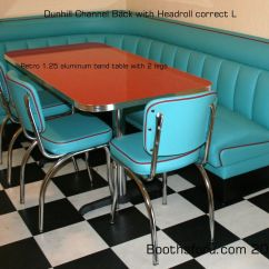 Kitchen Table And Chairs Set With Booth Tranquil Ease Massage Chair Parts Retro Diner Booths Banquettes For Residence