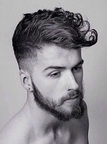 Mens Curly Hair Shaped Into A Modern Pompadour Ryan's Hurr