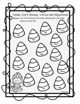 All Worksheets » Identify Nouns Verbs Adjectives