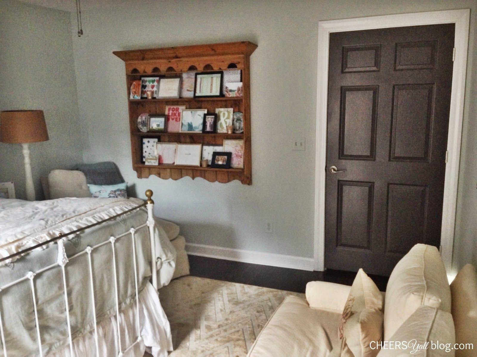 Home Tour   Guest Bedroom   Seaside Neutrals   Sherwin Williams Sea Salt   Door Color Urbane ...
