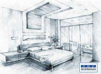 Simple Bedroom Sketch Design sketches bedroom: | Sketch ...