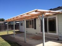 Exterior,Simple Wood Awning With 4 Columns As Front Porch ...
