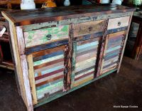 Vintage Multi colored Shutter Cabinet spectacular
