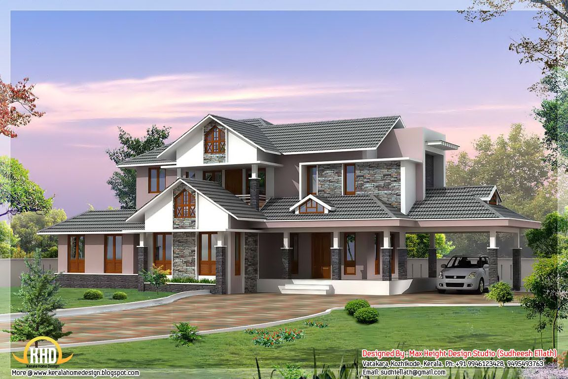 Kerala Home Design In Traditional Style Dream Home Pinterest