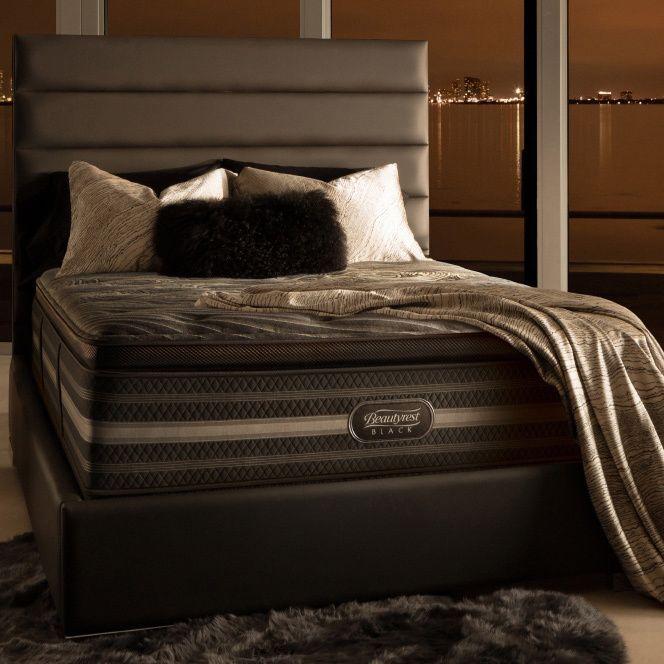 Simmons Beautyrest Black Natasha Plush Pillow Top California King Size Mattress Set
