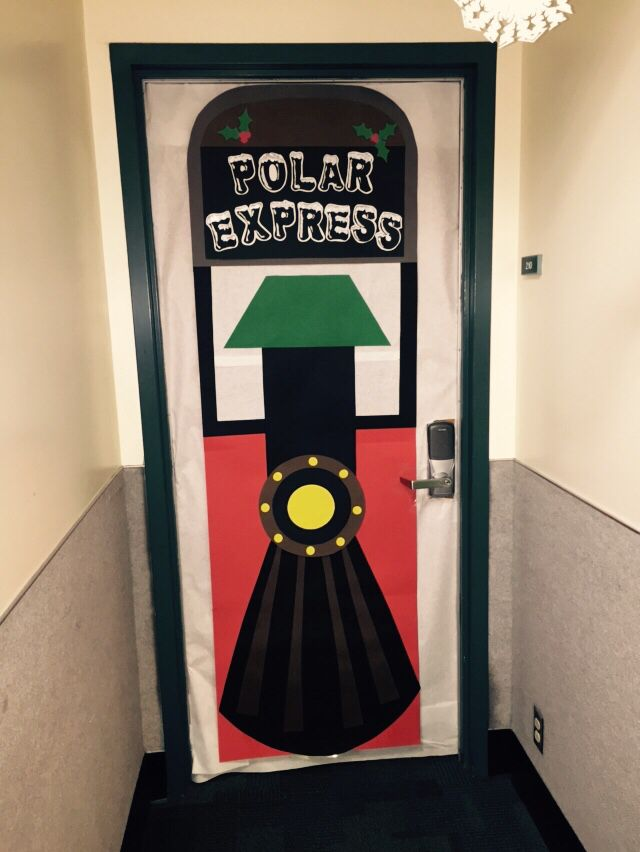 Polar Express Door Decor