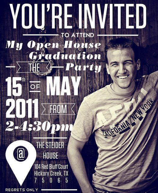 Open House Invitations Graduation