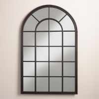 Black Windowpane Andrea Mirror
