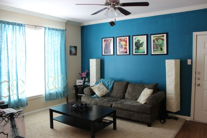 Living Room Ideas Mesmerizing Fan Ceiling Lights Over Black Wooden Rectangle Coffee Table Storage Also Brown Velvet Couch In Small Turquoise