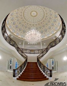 Italian villa style mansion with huge dome ceiling   shape staircase and also the best images about on pinterest cooling tower rh uk