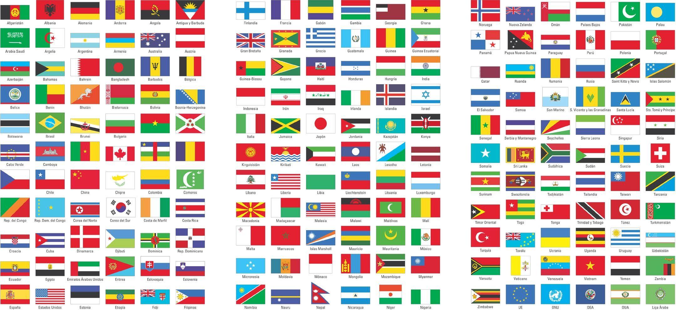 Banderas Y Paises Del Mundo En Espanol