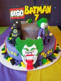 Batman/Joker Lego Cake | Cakes | Pinterest