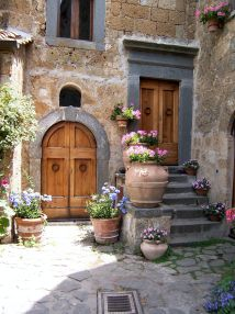 Garden Courtyard Italian Villa