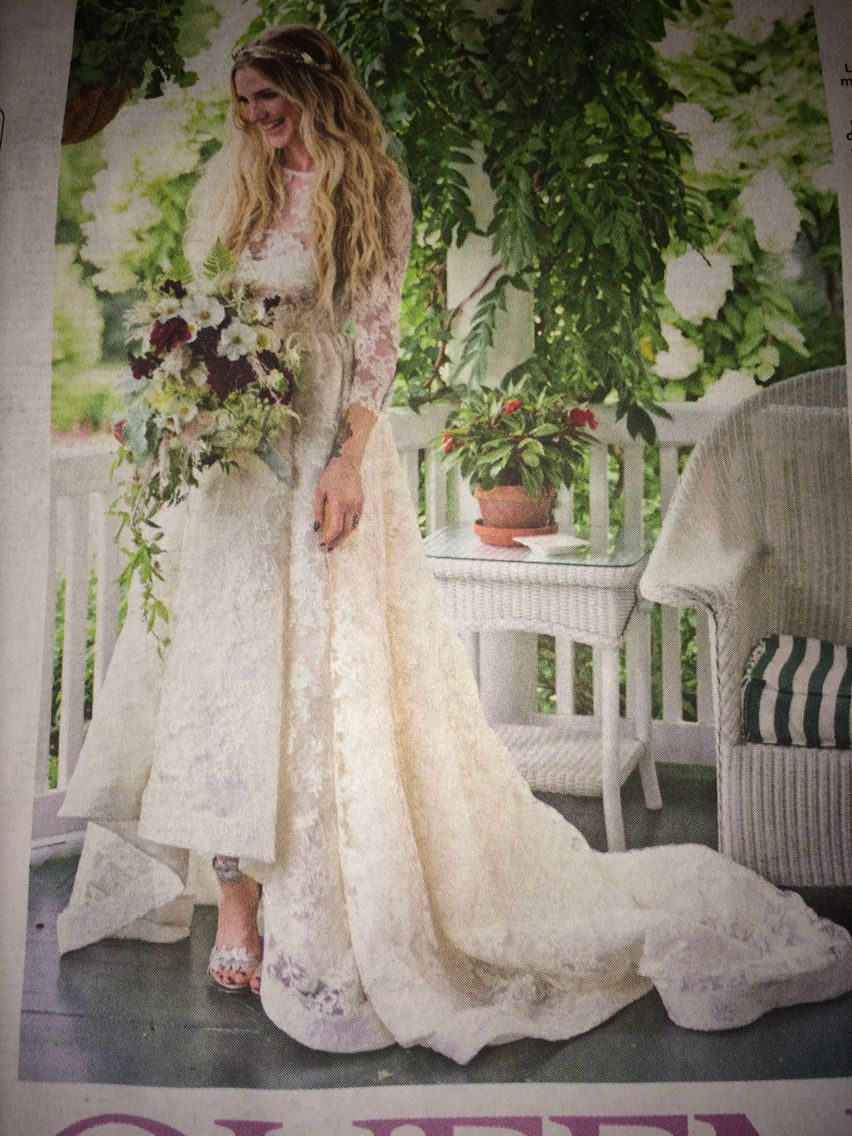 Ashlee Simpson wedding houghton dress mcqueen shoes love her flowers which is by my fav florist